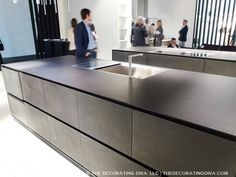 dekton by cosentino kitchen counter surface trend spotted at Rifra Euro cucina  | The Decorating Diva, LLC #kitchen #design #trends