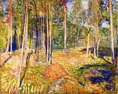 Pine Forest. Edvard Munch 1891-92