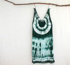 FOREST DWELLER . women's tie dye dress . plus size 20 ❲us 16❳ . emerald green . boho gypsy hippie hippy festival bohemian slip . australia