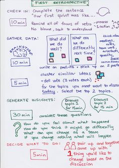 New Scrum Team Retrospective Plan page 1