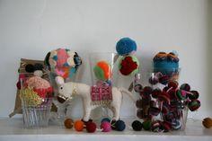 Donkey & Pom poms- The Society inc. by Sibella Court