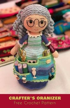 Crafter's Organizer Free Crochet Pattern This beautiful ami doll will be your next project! Visit us for more free amigurumi patterns, crochet toys, baby blankets, afghans and more!
