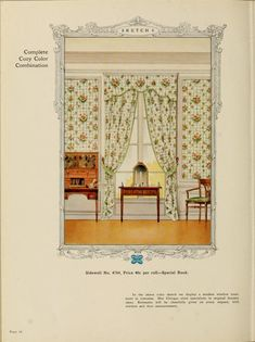 Complete Cozy Color Combination :: Home decoration, 1917 / Alfred Peats Co.