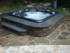 Stone Hot Tub