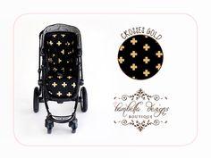 Pram Liner- Crosses Gold #baby #bling #fancy