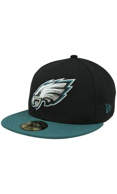 NFL New Era Philadelphia Eagles Two-Tone 59FIFTY Fitted #Hat - Black/Midnigh
