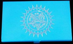 Black Butler Contract Seal Anime New Blue Engraved Business ID Card Case BUS-027