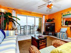 Cheerful living room at Gulf Dunes, http://www.beachguide.com/FortWalton/GulfDunes/630