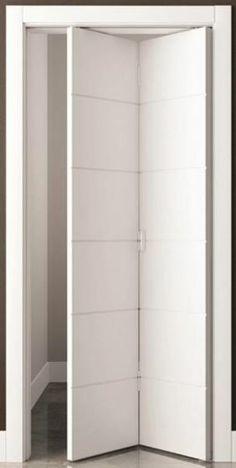 Door Design Interior, Home Room Design, Living Room Designs, Door Alternatives, Modern Bathroom Decor, Bathroom Doors, Folding Doors, Closet Bedroom, Home Deco