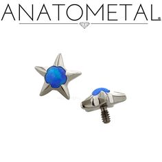 Threaded gem stars are hand set without the use of glues. Machined from one piece of titanium.