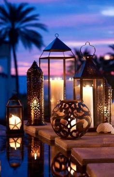 bronze lanterns for summer evenings
