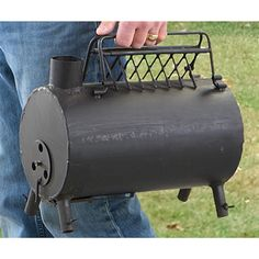 Sportsman's Guide sells this little beauty of a wood stove. Gas Bottle Wood Burner, Small Wood Burning Stove, Mini Wood Stove, Wood Pellet Stoves, Tent Stove, Cooking Stove, Cooking Oil, Stove Fireplace, Rocket Stoves