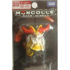 "Pokemon 2013 Braixen Tomy 2"" Monster Collection Plastic Figure MC-020"