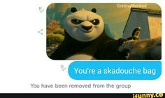 Best Funny Memes You're a skadouchbag Funny Pins, Funny Stuff, Random Stuff, Random Items, Funny Shit, Random Things, Kung Fu Panda, My Demons, Tumblr Funny