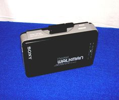 vintage sony am fm portable cassette player walkman wm-af22 with belt clip from $12.95