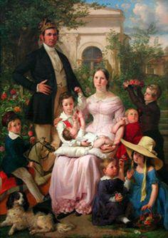 Portrait Of Schegar Family by Johann Baptist Reiter