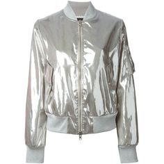 Love Moschino metallic bomber jacket ($383) ❤ liked on Polyvore featuring outerwear, jackets, bomber jacket, moschino, grey, print bomber jacket, patterned bomber jacket, gray jacket, pattern jacket and grey bomber jacket