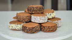 alfajores de maicena de chocolate