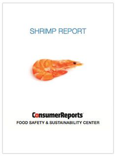 GreenerChoices.org | Shrimp: CR's Food Safety & Sustainability Center report and letters to the FDA 4/15
