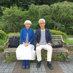 Japanese Couple, Advanced Style, Attitude, Photo And Video, Couples, Blue, Journal, Clothes, Instagram