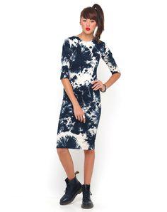 Motel Suni Bodycon Midi Dress in Jumputan, TopShop, ASOS, House of Fraser, Nasty gal
