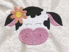 Summer Cows Machine Embroidery Designs http://www.designsbysick.com/details/summercows