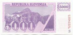 5000 Tolarjev 1992 (Triglav - Dreikopf) Slowenien Republik