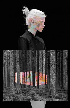 I like the idea of the artwork using materials from the forest, and then reinterpreted on the 'walls' of the forest