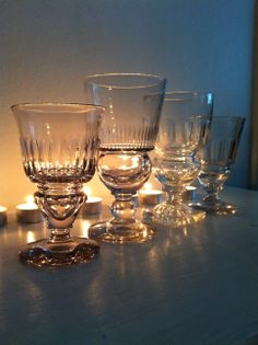 Pontarlier-style absinthe glasses
