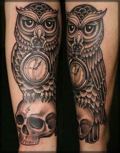 owl skull tattoo - Google zoeken