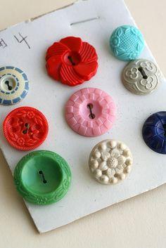 Vintage Plastic Buttons