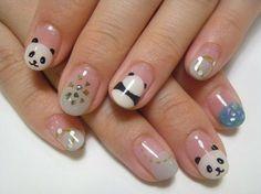 atelier+LIMhand nail  panda panda panda... so cute