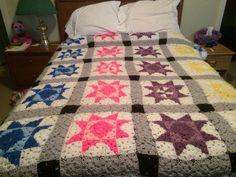 Finally done. Crochet Projects, Quilts, Blanket, Bed, Home, Scrappy Quilts, Comforters, Blankets, Stream Bed