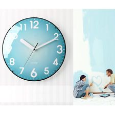 Wall Clock Home Interior Art Wallclock Non-Ticking Silent Watch 3 COLOR