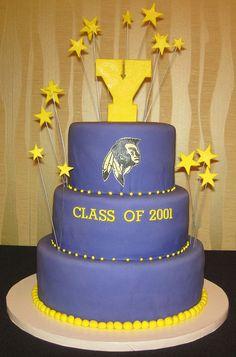 Ypsilanti Braves Cake Graduation, Class Reunion Cake | Flickr - Photo Sharing!