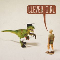 Muldoon and the raptor reconciled a few years later, after she got herself away from that bad crowd and went for her degree.
