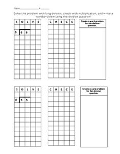 1000 images about division on pinterest long division teaching division and graph paper. Black Bedroom Furniture Sets. Home Design Ideas