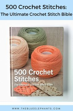 An in depth book review of 500 Crochet Stitches: The Ultimate Crochet Stitch Bible! Complete with pros, cons, pictures, and more. Crochet Cross, Thread Crochet, Free Crochet, Crochet Baby, Knit Crochet, Crochet For Beginners, Crochet Stitches Patterns, Crochet Videos, Marketing News
