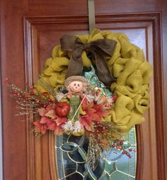 Here is a great idea for a fall burlap wreath created by Hobby Lobby customer Tiffany!