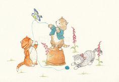 Kitten Mischief - Watercolor Art Print