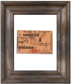 Frame a ticket stub from something you both went to: | 11 Gifts You Can Make With Basically Nothing But Thought
