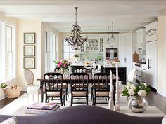 Modern Country Kitchen Design.  Beautiful White Country Kitchen Design. #Kitchen #CountryKitchen