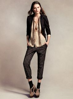 the print pants and the scarf!