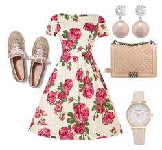 Simply beautiful . by kylahraee on Polyvore featuring polyvore, fashion, style, Keds, Chanel, Jankuo and clothing