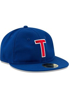 detailed look aead1 917de New Era Texas Rangers Mens Blue Sandlot 59FIFTY Fitted Hat - Image 2 The  Sandlot,
