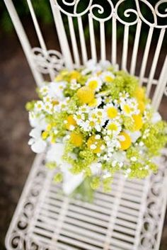 Pretty bouquet of daisies, asters, and solidago.