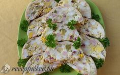 Sonkás-tojásos őzgerinc recept fotóval Meat Recipes, Cooking Recipes, Cold Dishes, Breakfast For Dinner, Potato Salad, Cauliflower, Food To Make, Bacon, Food And Drink