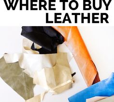 sewing 101 // 6 tips for sewing with leather + where to buy it
