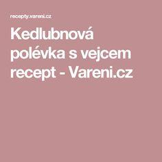Kedlubnová polévka s vejcem recept - Vareni.cz