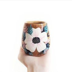Painted Plant Pots, Painted Cups, Bamboo Cups, Surprise Box, Foyer Design, Organic Living, Posca, Artisanal, Flower Pots